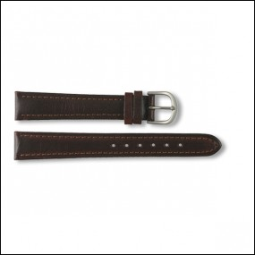 Leather strap - plain - brown - 14mm