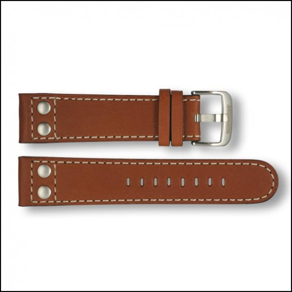 Leather strap - Pilot - light brown - 22mm