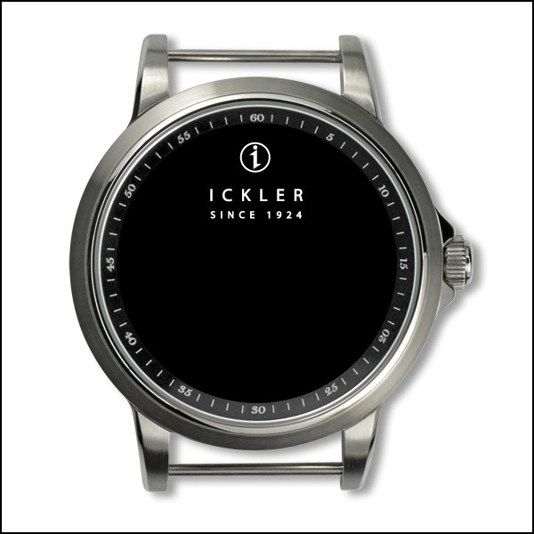 Case - Steel / brushed / black inside bezel / 60 min scale / 39mm