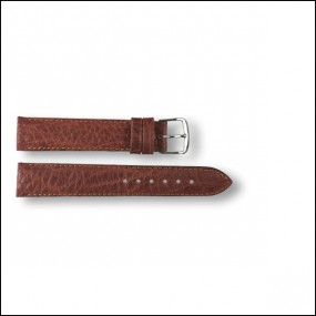 Leather strap - pattern - brown - 18mm