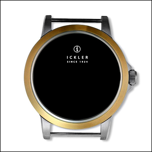 37mm / gold-plated bezel / polished + brushed