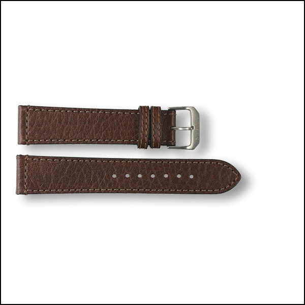 Leather strap - pattern - brown - 20mm