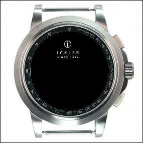 CURRENTLY NOT AVAILABLE! Case - Steel / brushed / black tachy / 41mm / Eta 7750