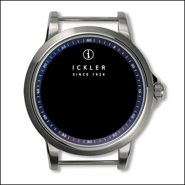39mm / polished + brushed / blue inside bezel