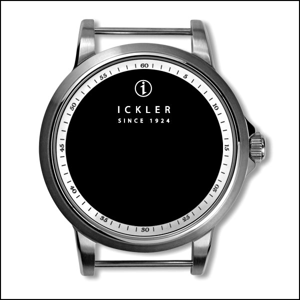39mm / polished + brushed / white inside bezel